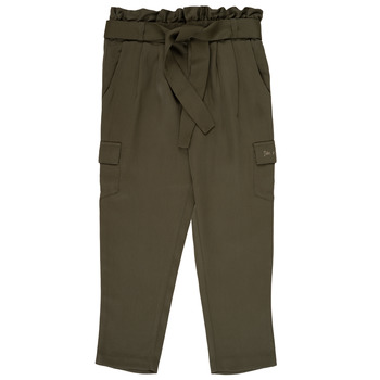 Abbigliamento Bambina Pantaloni morbidi / Pantaloni alla zuava Ikks ALEXIA Kaki