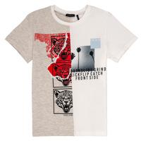 Abbigliamento Bambino T-shirt maniche corte Ikks RULIO Beige / Bianco