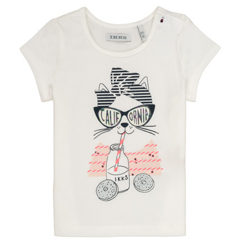 Abbigliamento Bambina T-shirt maniche corte Ikks MEOLIA Bianco
