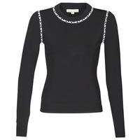 Abbigliamento Donna Maglioni MICHAEL Michael Kors MK TRIM LS CREW Nero