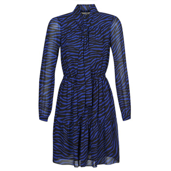 Abbigliamento Donna Abiti corti MICHAEL Michael Kors BOLD BENGAL TIER DRS Blu / Nero