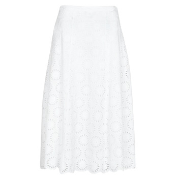 Abbigliamento Donna Gonne MICHAEL Michael Kors FLORAL EYLT LNG SKIRT Bianco