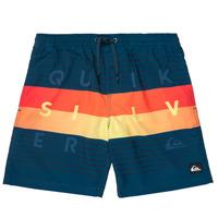 Abbigliamento Bambino Costume / Bermuda da spiaggia Quiksilver WORD BLOCK VOLLEY YOUTH Blu