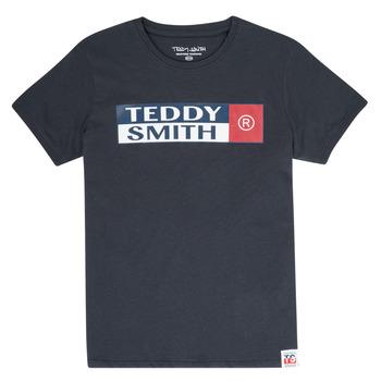 Abbigliamento Bambino T-shirt maniche corte Teddy Smith TOZO Marine