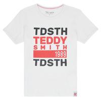 Abbigliamento Bambino T-shirt maniche corte Teddy Smith DUSTIN Bianco