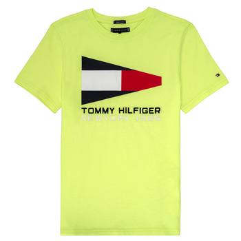 Abbigliamento Bambino T-shirt maniche corte Tommy Hilfiger KB0KB05628 Giallo
