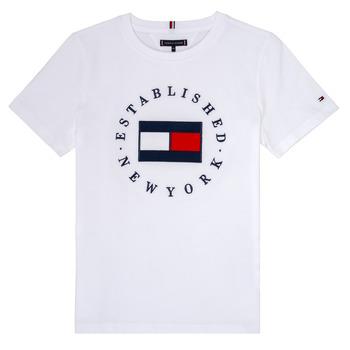 Abbigliamento Bambino T-shirt maniche corte Tommy Hilfiger KB0KB05718 Bianco