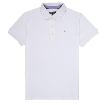 Abbigliamento Bambino Polo maniche corte Tommy Hilfiger KB0KB03975 Bianco