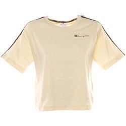 Abbigliamento Donna T-shirt maniche corte Champion T-Shirt Donna Banda Bianco