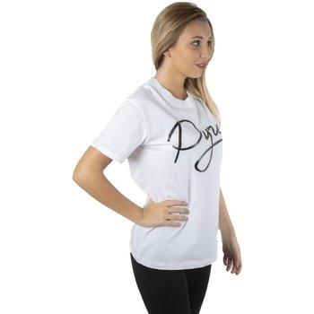 Abbigliamento Donna T-shirt maniche corte Pyrex T-Shirt Donna Scritta Corsivo Bianco