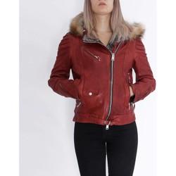 Abbigliamento Donna Giacca in cuoio / simil cuoio Delan V402 Rosso