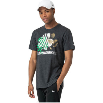 Abbigliamento T-shirt & Polo New-Era T-Shirt NBA Logo Repeat Tee Boston Celtic - Grey Grigio