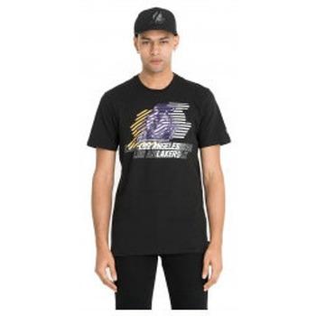 Abbigliamento T-shirt & Polo New-Era T-Shirt NBA Logo Repeat Tee Los Angeles Lakers - Black Nero