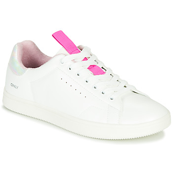 Scarpe Donna Sneakers basse Only SHILO PU IRIDESCENT Bianco / Rosa