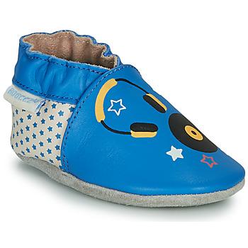 Scarpe Unisex bambino Pantofole Robeez MUSIC SOUND Blu / Beige