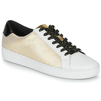 Scarpe Donna Sneakers basse MICHAEL Michael Kors IRVING LACE UP Bianco / Nero / Oro
