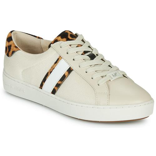 Scarpe Donna Sneakers basse MICHAEL Michael Kors IRVING STRIPE LACE UP Ecru / Leopard