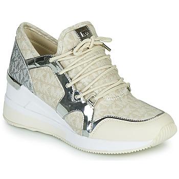Scarpe Donna Sneakers basse MICHAEL Michael Kors LIV TRAINER Beige / Argento