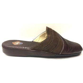Scarpe Uomo Pantofole Lina ATRMPN-14625 Marrone