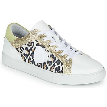 Scarpe Donna Sneakers basse Philippe Morvan FURRY Bianco / Leopard / Glitter