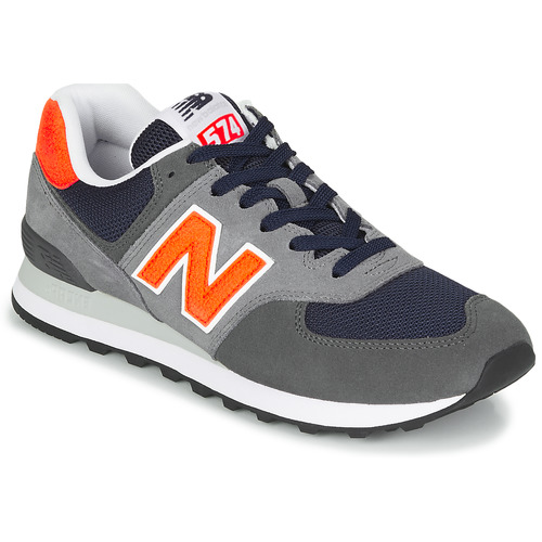 new balance 574 mdg sneaker uomo grigio arancio