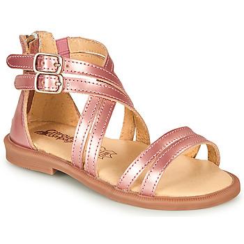 Scarpe Bambina Sandali Citrouille et Compagnie IMOURAT Rosa / Oro