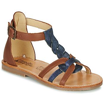 Scarpe Bambina Sandali Citrouille et Compagnie GITANOLO Marine / Camel
