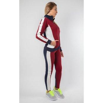 Abbigliamento Donna Tuta Get Fit Tuta Donna W Suit FZ Leggings Premium Rosso