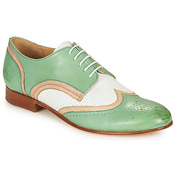 Scarpe Donna Derby Melvin & Hamilton SALLY 15 Verde / Bianco / Beige