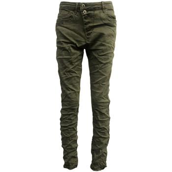 Abbigliamento Donna Jeans slim By La Vitrine Jeans kaki B3021-VB Verde