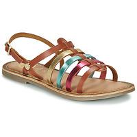 Scarpe Bambina Sandali Gioseppo ETALLE Cognac / Multicolore