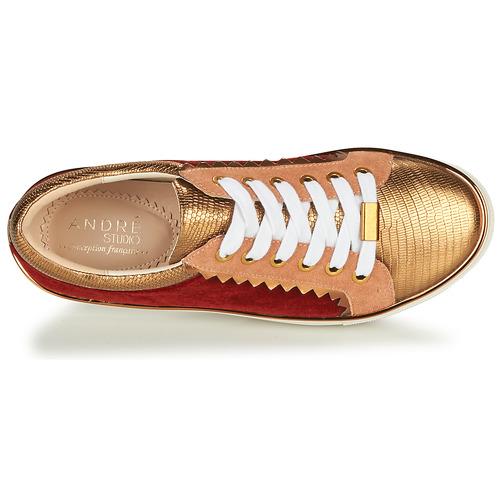 André La Funambule Bronzo - Consegna Gratuita- Scarpe Sneakers Basse Donna 89