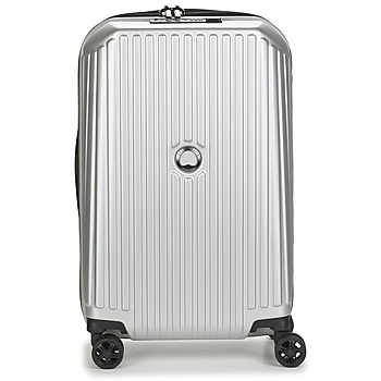 Borse Valigie rigide Delsey SECURITME ZIP 55 CM 4 DOUBLE WHEELS TROLLEY Argento
