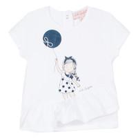 Abbigliamento Bambina T-shirt maniche corte Lili Gaufrette NALIOS Bianco