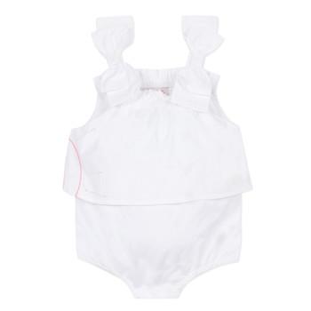 Abbigliamento Bambina Tuta jumpsuit / Salopette Lili Gaufrette NOLENI Bianco