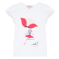 Abbigliamento Bambina T-shirt maniche corte Lili Gaufrette KATINE Bianco