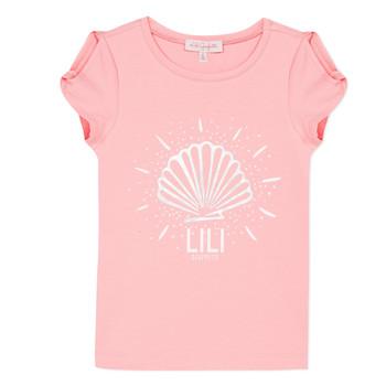 Abbigliamento Bambina T-shirt maniche corte Lili Gaufrette KATIA Blush