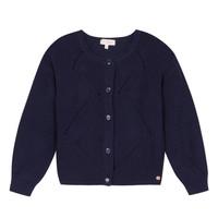 Abbigliamento Bambina Gilet / Cardigan Lili Gaufrette MADINE Marine