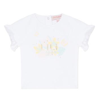Abbigliamento Bambina T-shirt maniche corte Lili Gaufrette KERINI Bianco