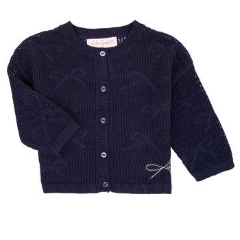 Abbigliamento Bambina Gilet / Cardigan Lili Gaufrette CETELIA Marine