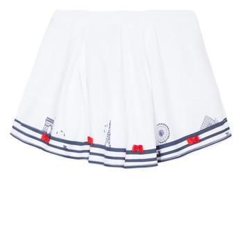 Abbigliamento Bambina Gonne Lili Gaufrette MAYA Bianco