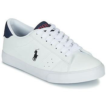 Scarpe Unisex bambino Sneakers basse Polo Ralph Lauren THERON Bianco
