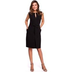 Abbigliamento Donna Felpe Style S158 Abito senza maniche con piega frontale - nero