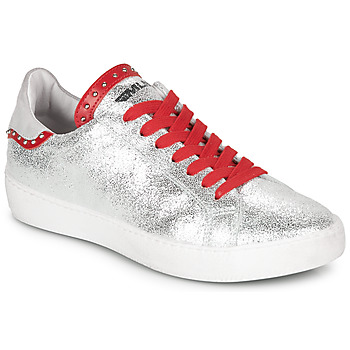 Scarpe Donna Sneakers basse Meline GARILOU Argento / Rosso