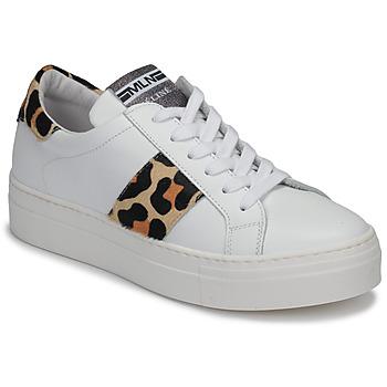 Scarpe Donna Sneakers basse Meline GETSET Bianco / Leopard