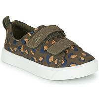 Scarpe Bambina Sneakers basse Clarks CITY BRIGHT T Kaki