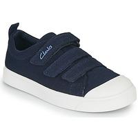 Scarpe Unisex bambino Sneakers basse Clarks CITY VIBE K Marine