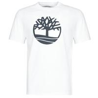 Abbigliamento Uomo T-shirt maniche corte Timberland SS Kennebec River Brand Tree Tee Bianco