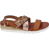 Scarpe Donna Sandali Rocco Barocco sandali glitter pelle sintetica marrone