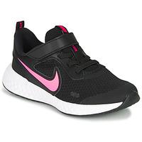 Scarpe Bambina Multisport Nike REVOLUTION 5 PS Nero / Rosa